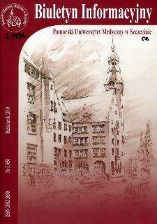 Biuletyn Informacyjny - Pomorski Uniwersytet Medyczny w Szczecinie. Nr 3 (69), Październik 2010