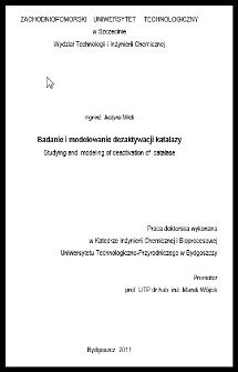 Badanie i modelowanie dezaktywacji katalazy