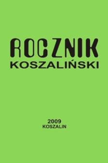 Rocznik Koszaliński. 2009, nr 37