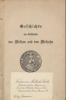 Geschichte des Geschlechts von Maltzan und von Maltzahn. 2 Abt., 2 Bd., Das 16. und 17. Jahrhundert
