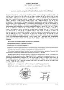 Uchwała Rady Miejskiej w Koszalinie nr II/4/2010