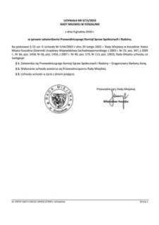 Uchwała Rady Miejskiej w Koszalinie nr II/13/2010