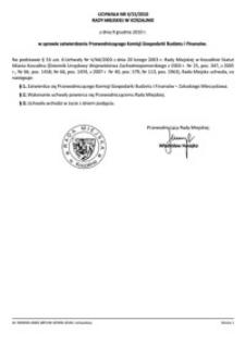 Uchwała Rady Miejskiej w Koszalinie nr II/15/2010