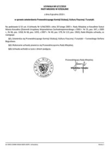 Uchwała Rady Miejskiej w Koszalinie nr II/17/2010