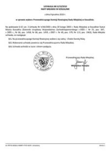 Uchwała Rady Miejskiej w Koszalinie nr II/19/2010