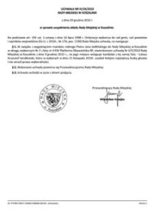 Uchwała Rady Miejskiej w Koszalinie nr IV/24/2010