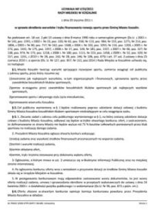 Uchwała Rady Miejskiej w Koszalinie nr V/33/2011