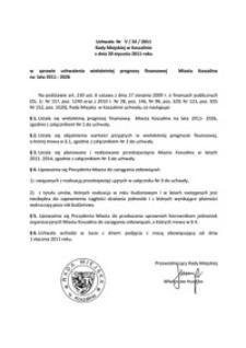 Uchwała Rady Miejskiej w Koszalinie nr V/34/2011