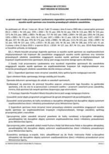 Uchwała Rady Miejskiej w Koszalinie nr V/37/2011