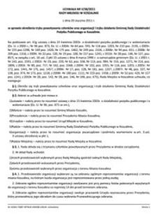 Uchwała Rady Miejskiej w Koszalinie nr V/38/2011