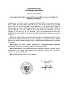 Uchwała Rady Miejskiej w Koszalinie nr V/40/2011