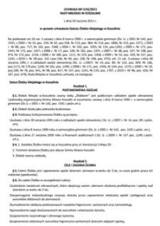 Uchwała Rady Miejskiej w Koszalinie nr V/42/2011