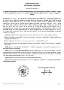Uchwała Rady Miejskiej w Koszalinie nr V/47/2011