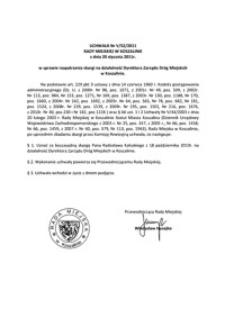 Uchwała Rady Miejskiej w Koszalinie nr V/52/2011