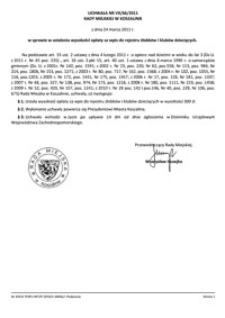 Uchwała Rady Miejskiej w Koszalinie nr VII/66/2011