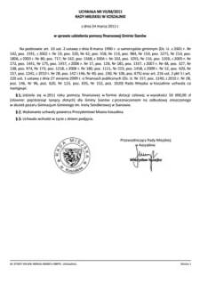 Uchwała Rady Miejskiej w Koszalinie nr VII/68/2011