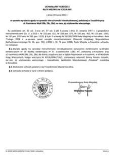 Uchwała Rady Miejskiej w Koszalinie nr VII/80/2011