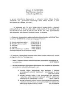 Uchwała Rady Miejskiej w Koszalinie nr X/108/2011