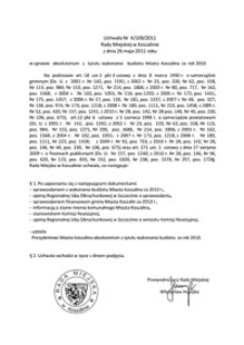 Uchwała Rady Miejskiej w Koszalinie nr X/109/2011