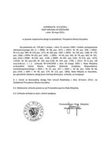 Uchwała Rady Miejskiej w Koszalinie nr X/112/2011