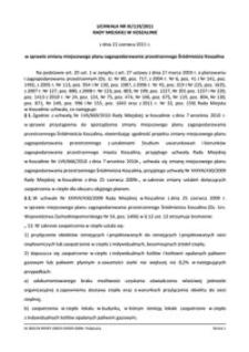 Uchwała Rady Miejskiej w Koszalinie nr XI/119/2011