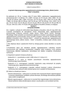 Uchwała Rady Miejskiej w Koszalinie nr XI/120/2011