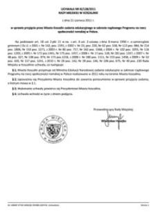 Uchwała Rady Miejskiej w Koszalinie nr XI/128/2011
