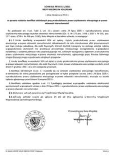 Uchwała Rady Miejskiej w Koszalinie nr XI/131/2011