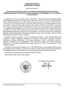 Uchwała Rady Miejskiej w Koszalinie nr XI/133/2011