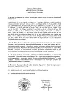 Uchwała Rady Miejskiej w Koszalinie nr XI/138/2011