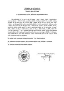 Uchwała Rady Miejskiej w Koszalinie nr XII/141/2011