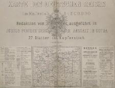 Karte des Deutschen Reich