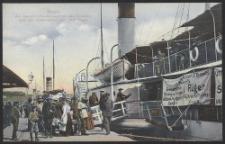 Stettin, Am Dampfschiffs-Bollwerk mit den Dampfern nach den Ostseebädern und Insel Rügen