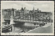 Stettin, Baumbrücke und Hafen