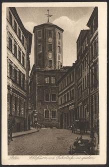 Stettin, Schlossturm v. d. Fuhrstrasse aus gesehen