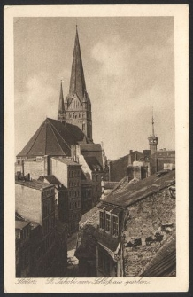 Stettin, St. Jakobi vom Schloβ aus gesehen