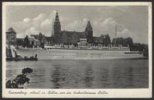 Tannenberg, erbaut in Stettin, vor der Hakenterrasse Stettin