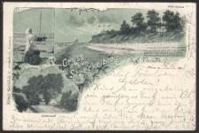 Gruss vom Streckelberg, Dorfeingang; Hotel Seeblick (C.Schlechter), Coserow