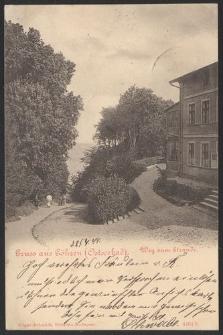Gruss aus Göhren (Ostseebad), Weg zum Strande