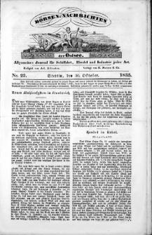 Börsen-Nachrichten der Ost-See : allgemeines Journal für Schiffahrt, Handel und Industrie jeder Art. 1835 Nr. 23