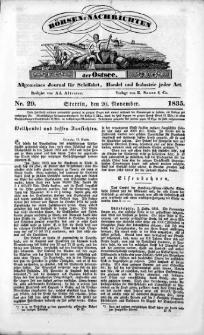 Börsen-Nachrichten der Ost-See : allgemeines Journal für Schiffahrt, Handel und Industrie jeder Art. 1835 Nr. 29