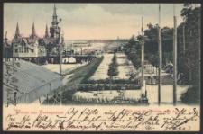 Gruss aus Heringsdorf, Blick vom Strandcasino nach Ahlbeck