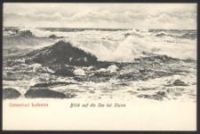 Ostseebad Lubmin, Blick auf die See bei Sturm