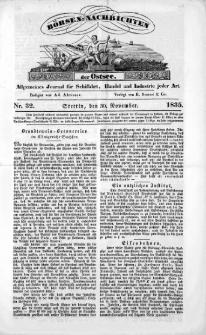 Börsen-Nachrichten der Ost-See : allgemeines Journal für Schiffahrt, Handel und Industrie jeder Art. 1835 Nr.32