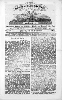 Börsen-Nachrichten der Ost-See : allgemeines Journal für Schiffahrt, Handel und Industrie jeder Art. 1835 Nr. 37