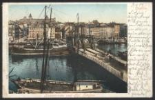 Stettin, Baumbrücke und Königliche Schloss