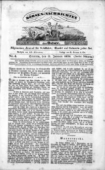 Börsen-Nachrichten der Ost-See : allgemeines Journal für Schiffahrt, Handel und Industrie jeder Art. 1836 Nr. 4