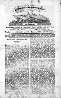 Börsen-Nachrichten der Ost-See : allgemeines Journal für Schiffahrt, Handel und Industrie jeder Art. 1836 Nr. 9