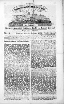 Börsen-Nachrichten der Ost-See : allgemeines Journal für Schiffahrt, Handel und Industrie jeder Art. 1836 Nr. 14