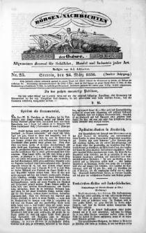 Börsen-Nachrichten der Ost-See : allgemeines Journal für Schiffahrt, Handel und Industrie jeder Art. 1836 Nr. 25